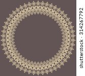 classic vector round frame with ... | Shutterstock .eps vector #314267792