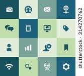 social media icons universal...   Shutterstock .eps vector #314270762
