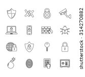 set of security icon.... | Shutterstock .eps vector #314270882