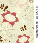 big floral and leaves... | Shutterstock .eps vector #31427641