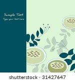 lovely floral greetings card... | Shutterstock .eps vector #31427647