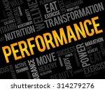 performance word cloud  fitness ... | Shutterstock .eps vector #314279276