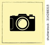 photo camera sign icon  vector... | Shutterstock .eps vector #314288315