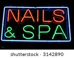 "neon sign series  ""nails and... 