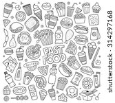 sketchy vector hand drawn... | Shutterstock .eps vector #314297168