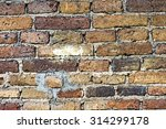 hard detail of old brick wall... | Shutterstock . vector #314299178