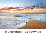colorful ocean beach sunrise... | Shutterstock . vector #314299406