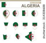 algeria flag collection  12... | Shutterstock . vector #314308688