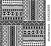 black and white tribal african... | Shutterstock .eps vector #314313035
