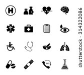 medical icons set | Shutterstock .eps vector #314322086