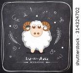 illustration of sheep on... | Shutterstock .eps vector #314324702