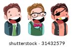 three boys | Shutterstock .eps vector #31432579