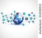 world with media network symbol ... | Shutterstock .eps vector #314328512
