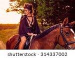 beautiful young fashion model... | Shutterstock . vector #314337002