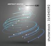 vector tornado abstract... | Shutterstock .eps vector #314340392