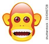 vintage musical jolly chimp... | Shutterstock .eps vector #314340728