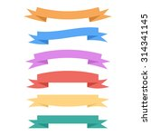 vector banner set of colorful... | Shutterstock .eps vector #314341145