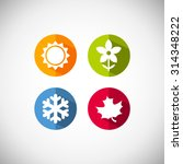 four seasons icon symbol vector ... | Shutterstock .eps vector #314348222