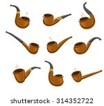 tobacco pipes set. vector | Shutterstock .eps vector #314352722