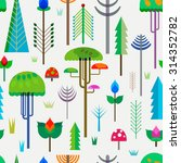 seamless pattern forest with... | Shutterstock .eps vector #314352782