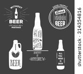vintage craft beer brewery... | Shutterstock .eps vector #314354816