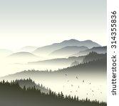 square illustration morning... | Shutterstock .eps vector #314355836