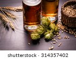assorted beers in a flight... | Shutterstock . vector #314357402