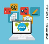 social media design  vector...   Shutterstock .eps vector #314360318