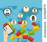 social media design  vector... | Shutterstock .eps vector #314360975
