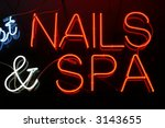 """""""neon sign series"""" """"nails   spa"""" 