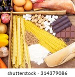 food full of carbohydrates ... | Shutterstock . vector #314379086