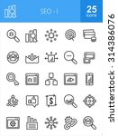 seo icon set. can also be used