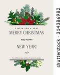 vintage vector card. i wish you ... | Shutterstock .eps vector #314386982