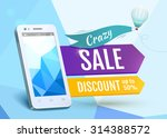 sale smartphone  poster design. ... | Shutterstock .eps vector #314388572