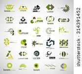unusual icons set   isolated on ... | Shutterstock .eps vector #314391452