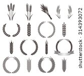wheat icon set | Shutterstock .eps vector #314393072