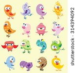 set of cute birds in vector | Shutterstock .eps vector #314394092