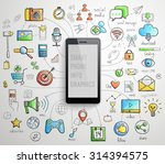 smart phone infographics ... | Shutterstock .eps vector #314394575