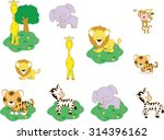 zoo animal | Shutterstock .eps vector #314396162