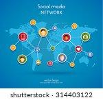 social media network concept.... | Shutterstock .eps vector #314403122