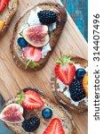 healthy fruit topped open... | Shutterstock . vector #314407496