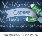 the word career and casual...   Shutterstock . vector #314419376