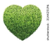 heart of green grass. a lawn... | Shutterstock .eps vector #314425196