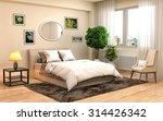 bedroom interior. 3d... | Shutterstock . vector #314426342