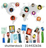 global community world people... | Shutterstock . vector #314432636