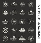 photography logos  badges and... | Shutterstock .eps vector #314433122