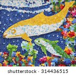 Dolphin Mosaic Made By Plastic...
