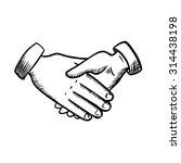 business partnership handshake... | Shutterstock .eps vector #314438198