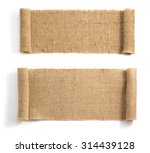 burlap hessian sacking isolated ... | Shutterstock . vector #314439128