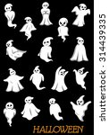 white halloween ghosts and...   Shutterstock .eps vector #314439335